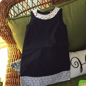 Old Navy Girl's navy and white dress
